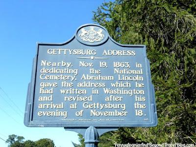 Gettysburg Address Historical Marker in Gettysburg Pennsylvania