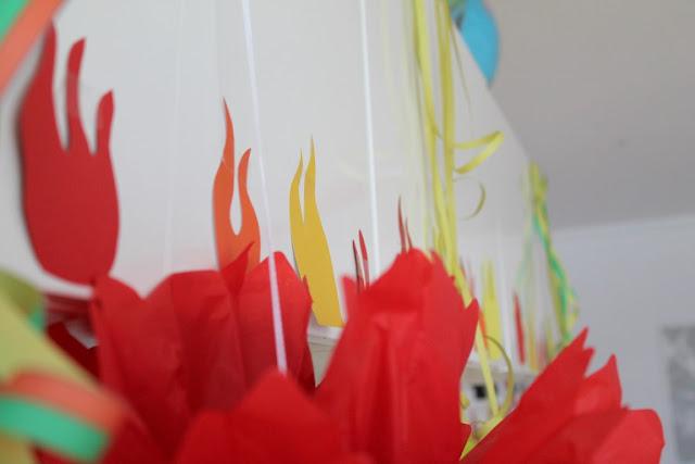 Feuerwehr Geburtstag Kindergeburtstag Feuerwehrmann Sam Jules kleines Freudenhaus Raumdeko