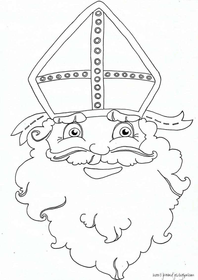 Kleurplaten Sinterklaas Vlaggetjes.Sinterklaas
