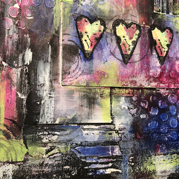 Journal page with Dina Wakley paints and AALL and Create stamps by Tracy Evans - by Nikki Acton