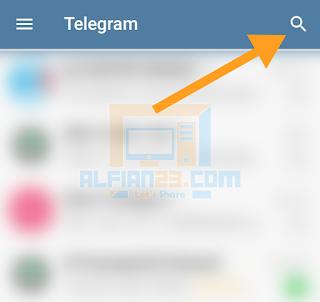 Tombol pencarian di Telegram untuk mencari GmailBot