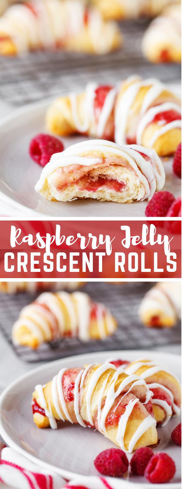 RASPBERRY CRESCENT ROLLS #dessert #sweets