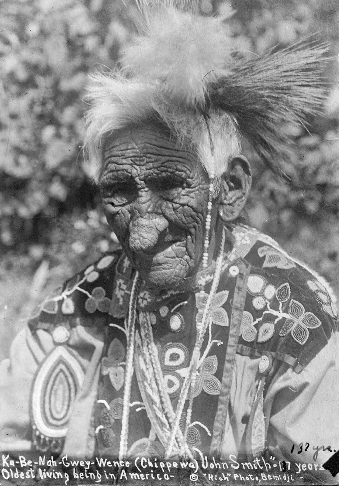 Chief John Smith Reputed To Be 138 Years Old When He Died 1784 1922 Rare Historical Photos