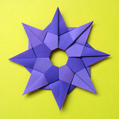 Origami, Stella ghirlanda (retro) – Star garland (back) by Francesco Guarnieri