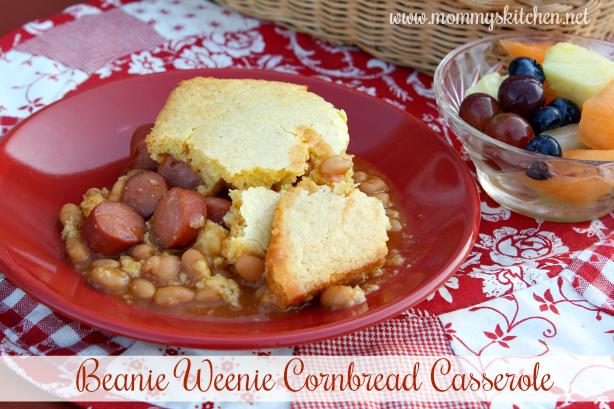 Beanie Weenie Cornbread Casserole
