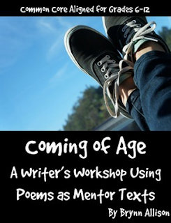 In this writer's workshop, students will examine and annotate coming of age poetry. Students will then use these mentor texts as models to brainstorm, draft, and revise their own coming of age poetry. This lesson would be ideal to start the year as it allows you to get to know your students and build community in your classroom as students share memories and their writing.