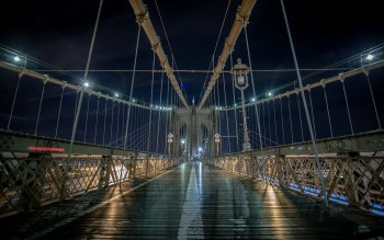 Wallpaper: Brooklyn Bridge. New York Nights