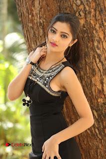 Actress Poojitha Pallavi Naidu Stills in Black Short Dress at Inkenti Nuvve Cheppu Movie Platinum Disc Function  0019.JPG