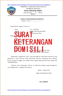 49+ Contoh surat domisili desa pdf terbaru yang baik