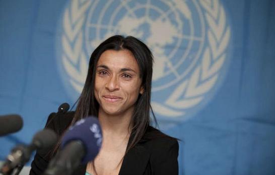 Jogadora alagoana Marta é nomeada embaixadora da ONU Mulheres