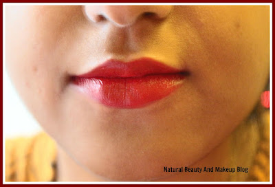 Colorbar Matte Touch Lipstick, Sweetheart 023M|| Review, Swatches & LOTD on the blog Natural Beauty And Makeup