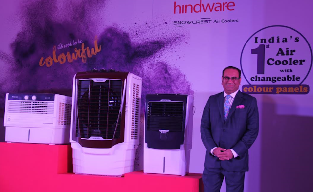 Mr. Sandip Somany, VCMD, HSIL Limited at the launch of Hindware Snowcrest Air Cooler