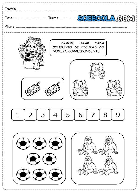 Atividades de matemática para o 1° ano do fundamental