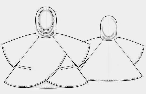 esquema del patrón gratis de poncho manta