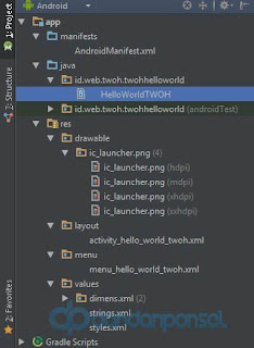 membuat project di android studio