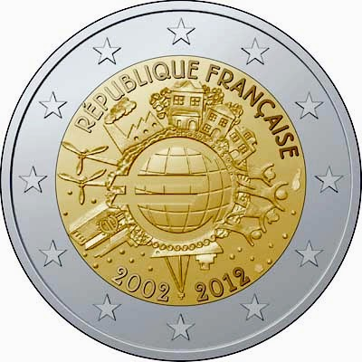 2 euro France 2012, Ten years of Euro cash