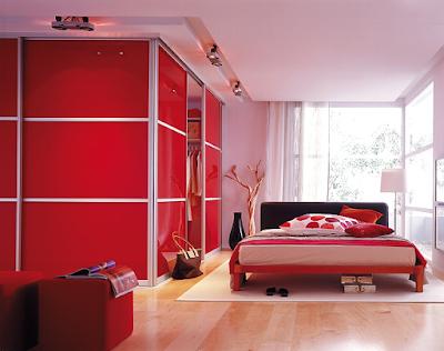 แบบห้องนอนสีแดง