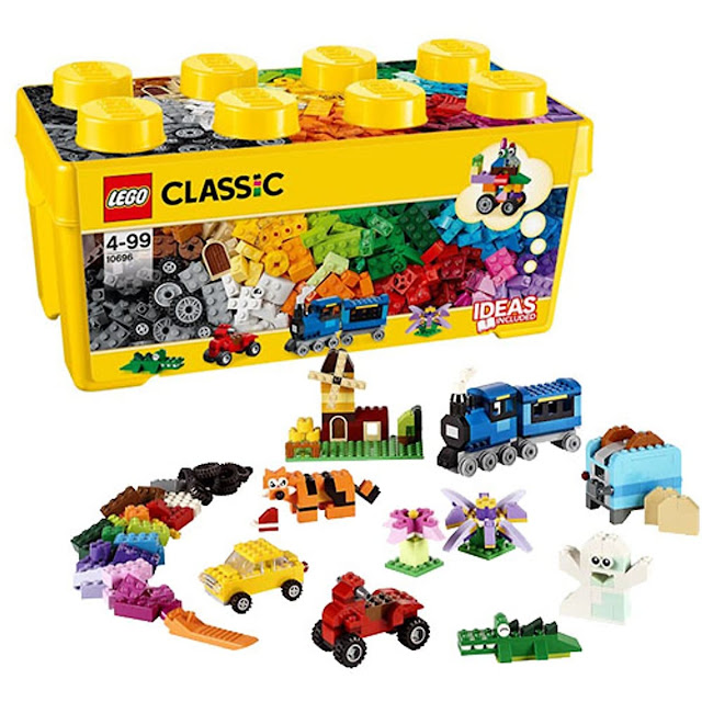 Review, đánh giá trò chơi lego mô hình LEGO thùng gạch classic 10696