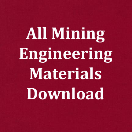 All Mining Engineering Subject Materials Download