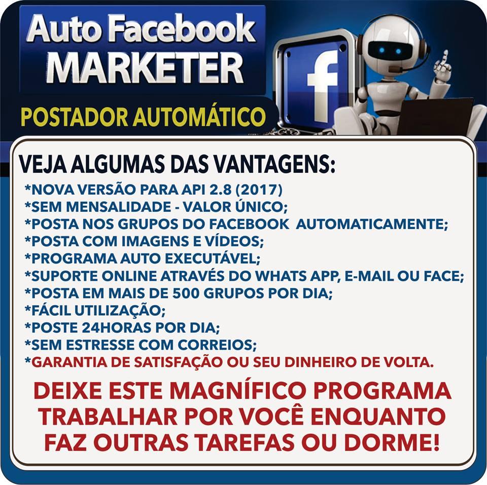Auto marketer facebook postador automático