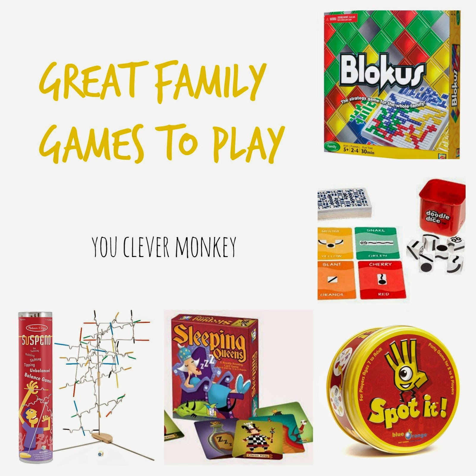 Great family board games to play together!