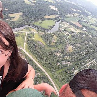 adventuring in hot air balloon