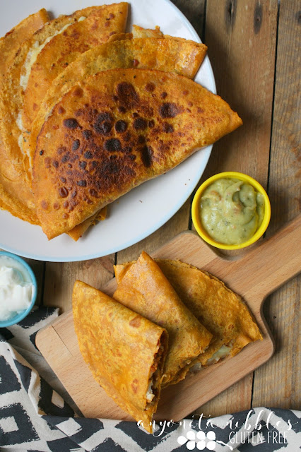 Use up your leftovers with this easy gluten free quesadilla recipe!