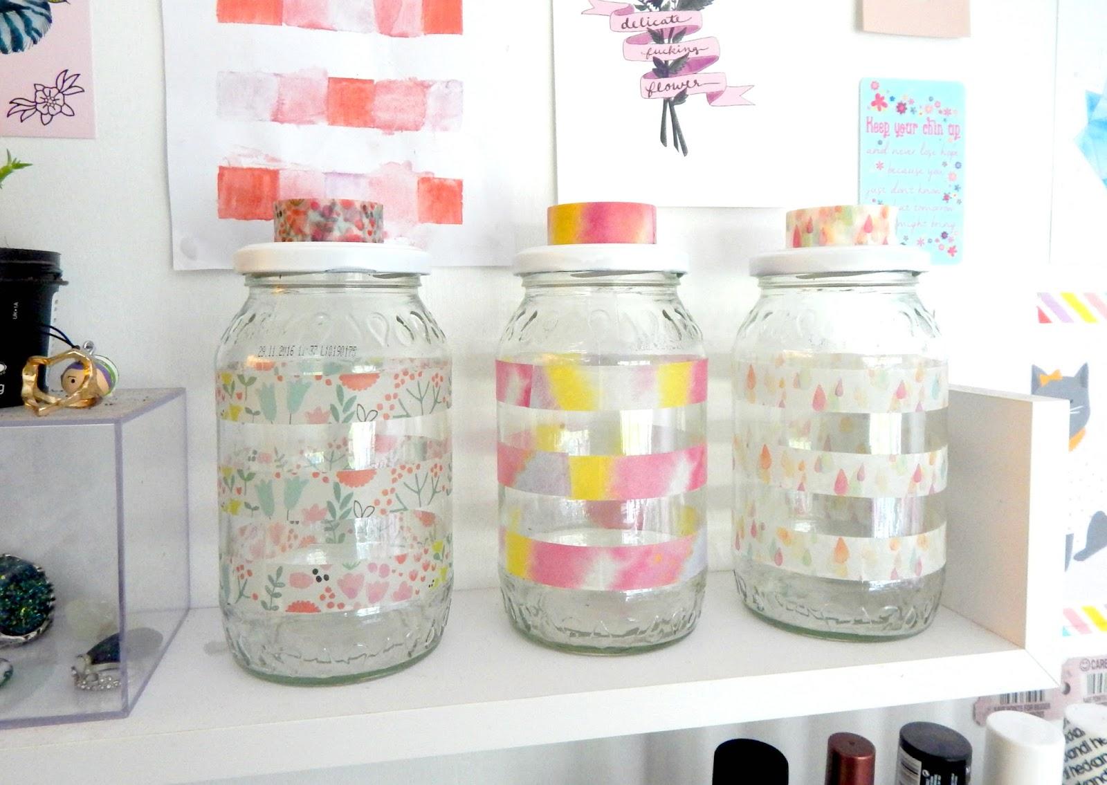 Diy Washi Tape Jars What Lauren Did Today
