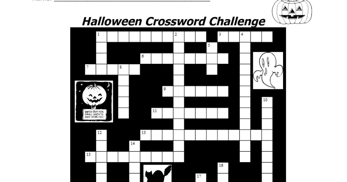 7 Halloween Crossword Printable