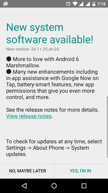 Moto G 3rd gen android 6.0 marshmallow update
