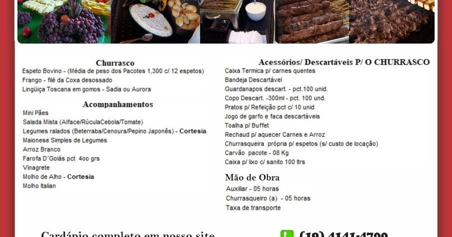 BUFFET TOP DOS ESPETOS: Buffet de Churrasco á Domicilio