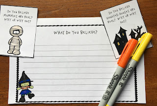 Need some Halloween writing prompts that are perfect for early finishers, writing centers, or homework?  Why not grab this engaging freebie that they are sure to love!