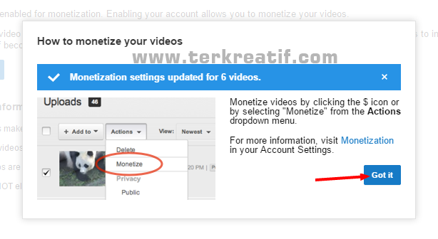 cara pasang iklan adsense di youtube
