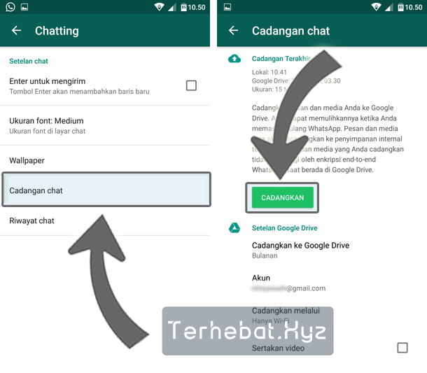 cara restore backup whatsapp di android