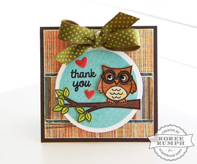 Sunny Studio Stamps: Woo Hoo Owl Thank You Card by Roree Rumph