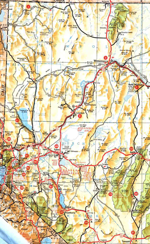 1939 Nv Highway Map The Last Year S R 8 Was Shown For What Is Now U S 95