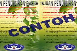 Berikut Desain Banner Tujuan Pendidikan Dasar
