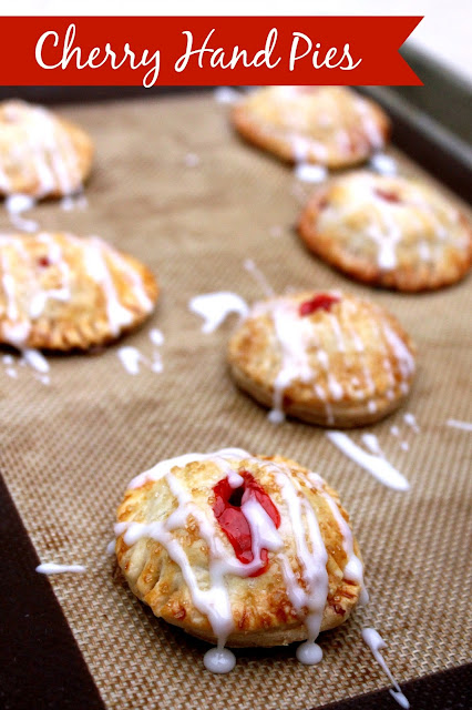Cherry Hand Pies from LoveandConfections.com
