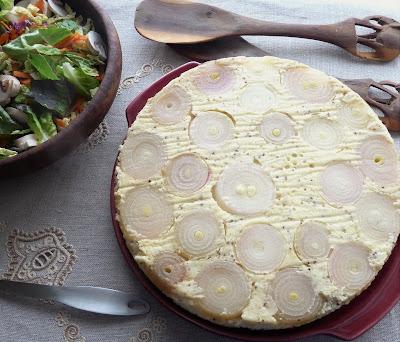 Cheese, Onion & Potato Tart Tatin