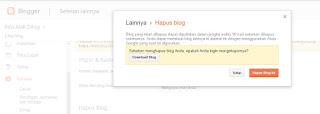 Cara Menghapus Akun Blogspot yang Terlalu Banyak di Blogger