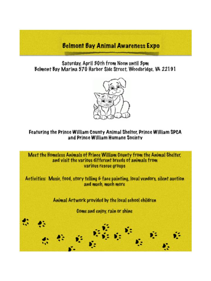Belmont Bay Animal Awareness Expo | from the Dog's Paw- A