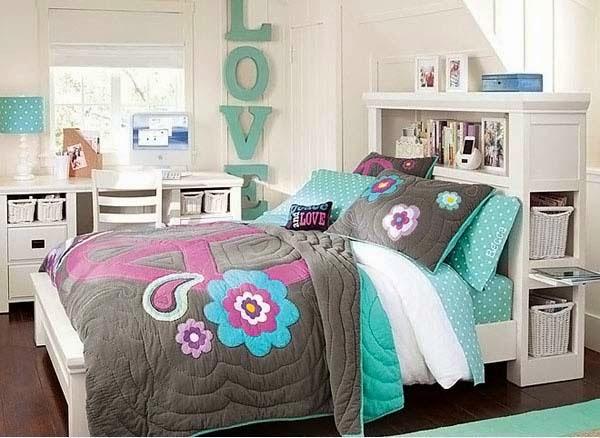 kamar tidur anak perempuan warna pink