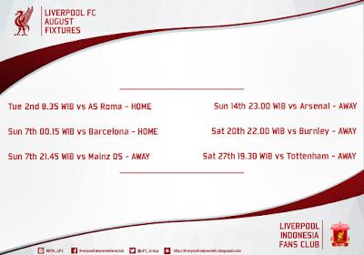 Berita Bola Jadwal Pertandingan Liverpool Fc Di Bulan Agustus