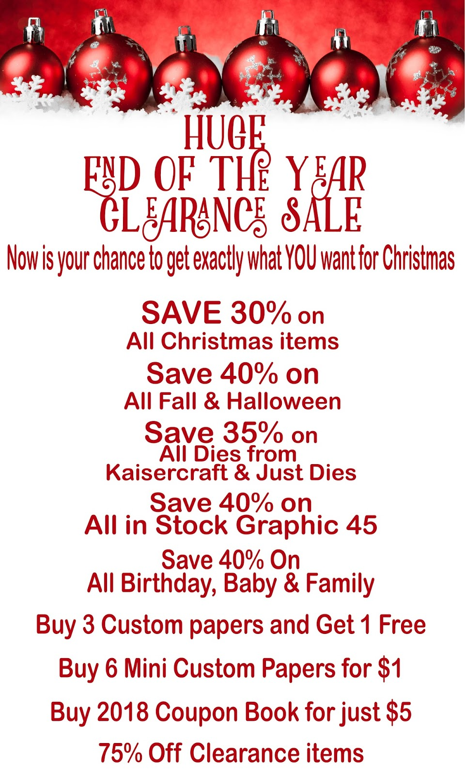 Photo Scraps: End of the Year Clearance Sale