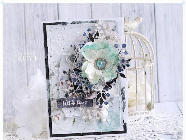 Card with Mint Flower / Kartka z Miętowym Kwiatem