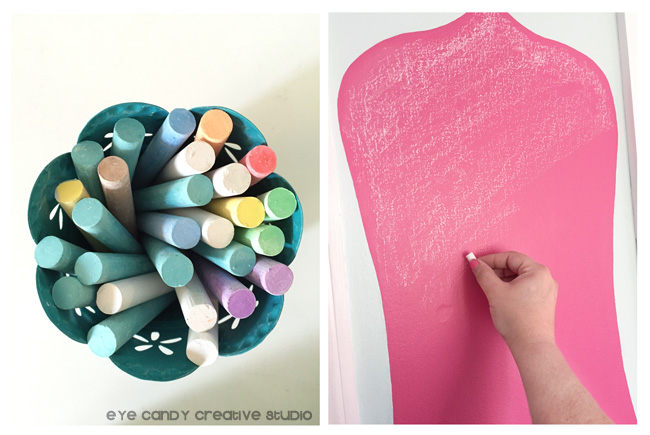 colored chalk, seasoning chalkboard wall, hot pink chalkboard design