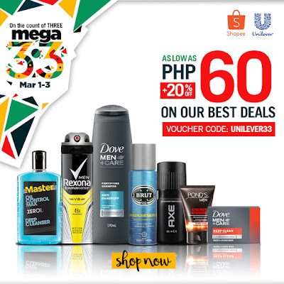 On the count of Three, Shop Now at Unilever x Shopee 3.3 Mega Shopping Day