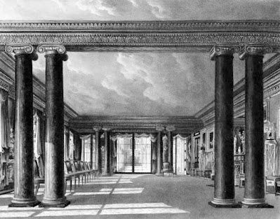 Dining Room, Carlton House, from The History of the Royal Residences by WH Pyne (1819)