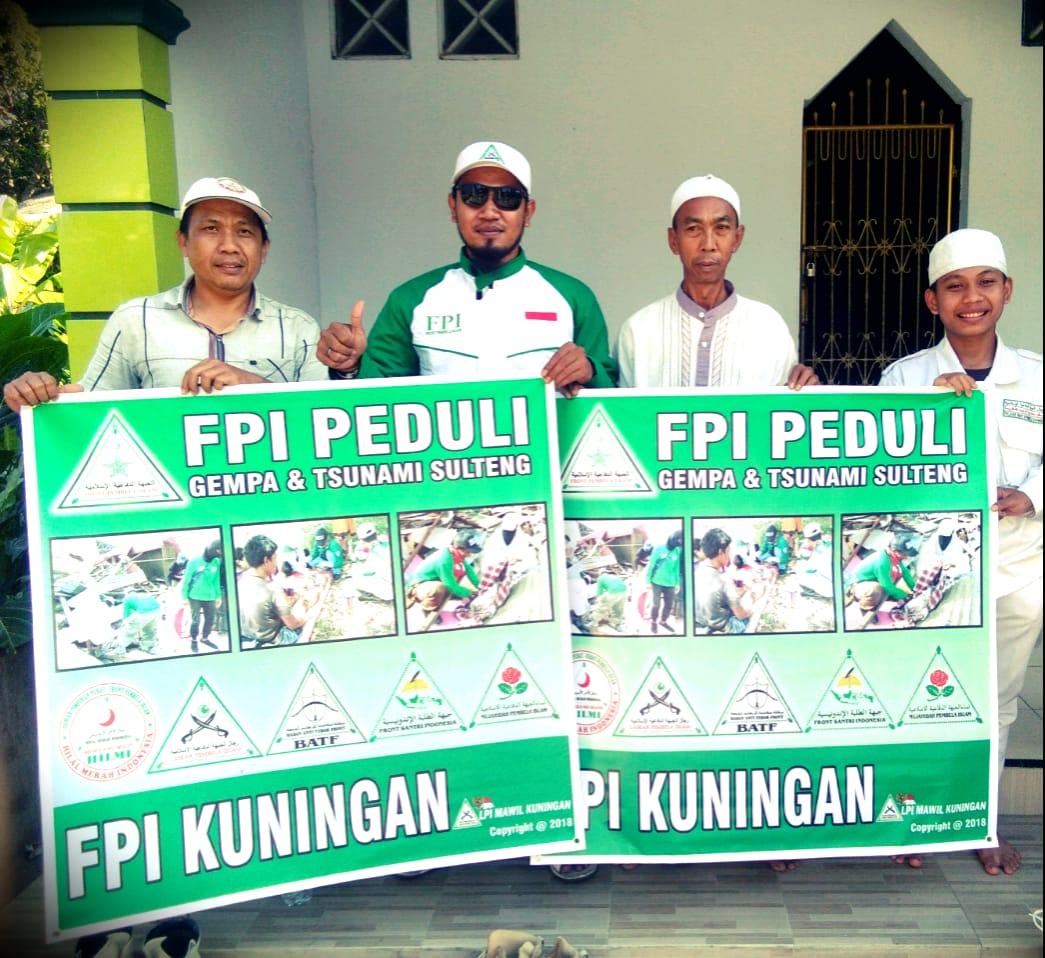 Fpi Kuningan Galang Dana Peduli Bencana Gempa Dan Tsunami Di Sulteng