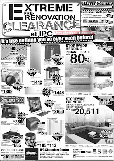 Harvey Norman Extreme Pre-Renovation Clearance Sale 2017